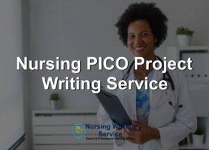 Nursing PICO Project Writing Service